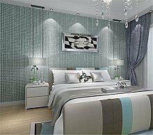 Einfache Gitter beflockte Vlies Pearl Wallpapers Wohnzimmer moderne Schlafzimmer Wände Esszimmer Tapete, grün, 0.53cm*10cm