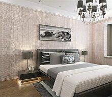Einfache Gitter beflockte Vlies Pearl Wallpapers Wohnzimmer moderne Schlafzimmer Wände Esszimmer Tapete, rose, 0.53cm*10cm