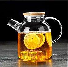 Einfache Glas-Teekanne für den Haushalt, hohe