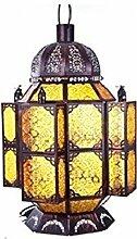 Einfache Glasmalerei Eisen Tisch Lampe Continental