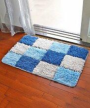 Einfache Idee Bedside Teppich Wasserabsorbierung Rutschfeste Tür Teppich Europäische Stil Wohnzimmer Hall Sofa Schlafzimmer Teppich ( Farbe : A , größe : 50*80CM )