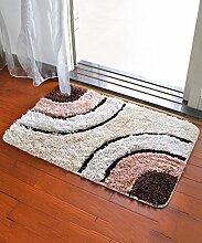 Einfache Idee Bedside Teppich Wasserabsorbierung Rutschfeste Tür Teppich Europäische Stil Wohnzimmer Hall Sofa Schlafzimmer Teppich ( Farbe : F , größe : 50*80CM )
