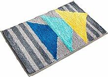 Einfache Idee Bedside Teppich Wasserabsorbierung Rutschfeste The Door Teppich Europäische Stil Wohnzimmer Hall Sofa Teppich Schlafzimmer ( Farbe : H , größe : 45*65CM )
