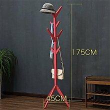 Einfache Installation / Überlegene Qualität Einfache und feste Holz-Coat-Rack, Kindermode Kleiderständer, Wohnzimmer / Schlafzimmer Hanging Hanger Lagerung Regal Langlebig / gesund / starkes Lager ( farbe : #3 , stil : A )
