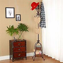 Einfache Installation / Überlegene Qualität European Style Coat Racks, Floor Hanger für Schlafzimmer Einfache Hanging Hanger Creative Iron Shelf Langlebig / gesund / starkes Lager ( farbe : Bronze , größe : 180cm )