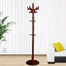 Einfache Installation / Überlegene Qualität Massivholz Mantel Racks Boden Kleiderbügel Modern Simplicity Hangers European Style Langlebig / gesund / starkes Lager ( farbe : Amber color )