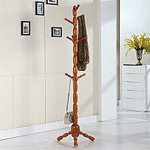 Einfache Installation / Überlegene Qualität Massivholz Mantel Racks Boden Kleiderbügel Modern Simplicity Hochwertige Kleiderbügel European Style Langlebig / gesund / starkes Lager ( farbe : A , stil : #2 )