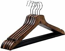 Einfache Installation / Überlegene Qualität Retro Massivholz Kleiderbügel Erwachsene Holz Kleider Hängen, Haus / Kleidung Shop Kleider Support Regal (10packs / 20packs) Langlebig / gesund / starkes Lager ( farbe : Retro color , größe : 10 )