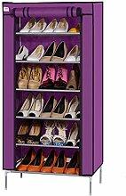 Einfache Kombination von Large Capacity Staub Tuch Storage Schuh Schrank A+ ( Farbe : Lila )