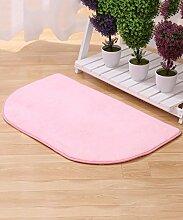 Einfache kreative Schlafzimmer Bedside Carpet The Door Teppich Wasserabsorption rutschfeste Badezimmer Wohnzimmer Hall Sofa Teppich ( Farbe : D , größe : 60*90CM )