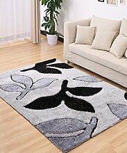 Einfache kreative Wasser-Absorption Anti-Rutsch-Tür Tür Teppich Wohnzimmer Sofa Teppich Schlafzimmer Bedside Teppich ( Farbe : H , größe : 120*170CM )