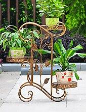 Einfache Kreativität Eisen Blumenregal Multilayer Blumenregal Balkon Boden Pflanzer Regal Regale Einfache Moderne Wohnzimmer Indoor Blumenregal (4 Styles) ( farbe : A )