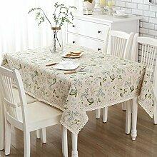 Einfache moderne Baumwoll- und Leinen-Tischtücher, Tuch pastorale kleine frische Teetisch runde Tischtischmatten quadratische Tisch quadratische Handtücher , #1 , 150*220cm