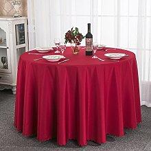Einfache moderne familie tischtuch.home garden tisch tuch verdicken sie hochzeit restaurant hotel runden tischdecke.mehrere farben.red-Rot Durchmesser320cm(126inch)