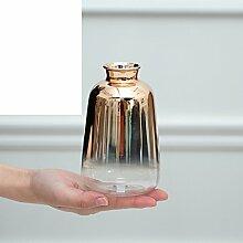 Einfache, moderne Gold gradient Glas-Vase anzeigen Dekoration-C
