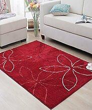 Einfache moderne Kreativität Polyester Wasserabsorption Anti-Rutsch der Tür Teppich Wohnzimmer Sofa Teppich Schlafzimmer Bedside Teppich ( größe : 60*90cm )