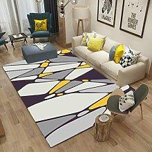 Einfache moderne nordische Wohnzimmer Schlafzimmer Teppich Studie Nachttisch Teppich Fußmatte Mats waschbar , 12 , 80x120cm