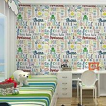 Einfache moderne PVC Persönlichkeitsfarbe Alphabet Tapete Tapete Schlafzimmer Wohnzimmer , 1