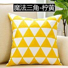 Einfache moderne Sofakissen mit Kern Baumwolle Bett Kissen Nordic Geometry Kissen, 45x45cm, ein