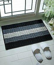 Einfache moderne Streifen Die Tür Teppich Schlafzimmer Bedside Teppich Wasserabsorption Rutschfeste Wohnzimmer Hall Sofa Teppich ( Farbe : A , größe : 44*67CM )