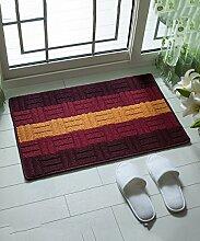 Einfache moderne Streifen Die Tür Teppich Schlafzimmer Bedside Teppich Wasserabsorption Rutschfeste Wohnzimmer Hall Sofa Teppich ( Farbe : C , größe : 57*87CM )