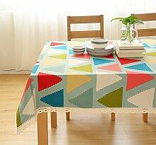 Einfache Moderne Streifen Stoff Tischdecke/Baumwoll Leinen Tisch Mat/Tischtuch-C 60x60cm(24x24inch)