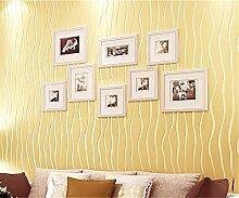 Einfache moderne Streifen Vliesfasertapete 3D-Tapete Studie Schlafzimmer Wohnzimmer TV Hintergrund Tapete, beige, 0.53m*10m