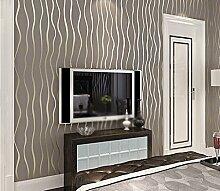 Einfache moderne Streifen Vliesstoffe Tapete 3D Dimensional Wallpaper Studie Schlafzimmer Wohnzimmer TV Hintergrund ( farbe : #2 )