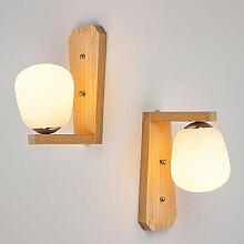 Einfache moderne Wandleuchte kreative Holz