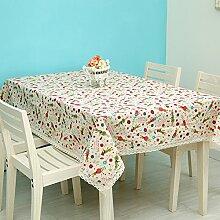 Einfache pastorale Baumwolle Tischdecke decke