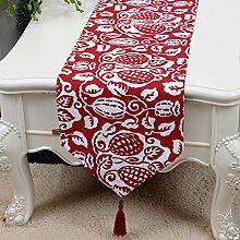 Einfache pastorale tischläufer/tee tischläufer/bett-runner,tischläufer/canvas fabric table flag-D 33x180cm(13x71inch)