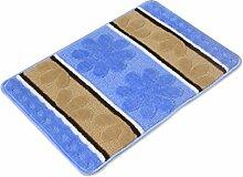 Einfache Polypropylen Die Tür Teppich Wasserabsorption Rutschfeste Badezimmer Wohnzimmer Sofa Teppich Hall Schlafzimmer Teppich ( Farbe : B , größe : 50*80CM )
