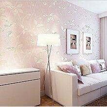 Einfache Prägung Vlies Tapete modern gemütliches großes Wohnzimmer Schlafzimmer Tapeten , pink