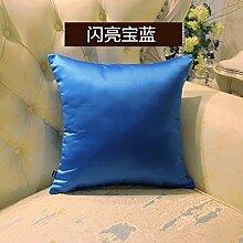 Einfache Pure-Color Kissen Auto Sofakissen Rücken Bett weich mit Kern, 45x45cm, j