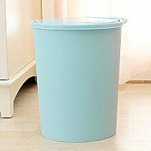Einfache Push-style Haushalt Mülleimer Deodorant Badezimmer Wohnzimmer Küche ( Farbe : Blau , größe : 10L )