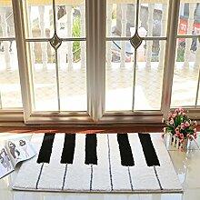 einfache rechteckige Teppich/Schlafzimmer Anti-Rutsch Bettvorleger/ Haushalt Tür Decke-C 50x120cm(20x47inch)
