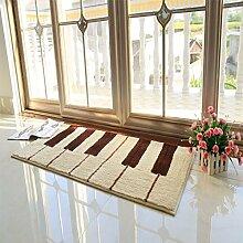 einfache rechteckige Teppich/Schlafzimmer Anti-Rutsch Bettvorleger/ Haushalt Tür Decke-D 110x160cm(43x63inch)