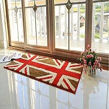 einfache rechteckige Teppich/Schlafzimmer Anti-Rutsch Bettvorleger/ Haushalt Tür Decke-A 60x130cm(24x51inch)