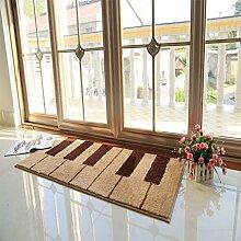 einfache rechteckige Teppich/Schlafzimmer Anti-Rutsch Bettvorleger/ Haushalt Tür Decke-B 50x140cm(20x55inch)