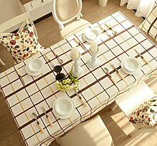 einfache Reine baumwolle und leinen tischdecke gitter Hotel hause Couchtisch Geschirr staub tuch , 90x140cm