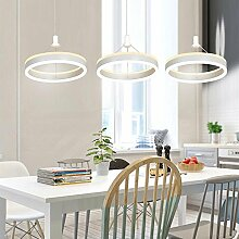 Einfache Ring Kronleuchter, SEESUNG Moderne Kreative Persönlichkeit LED Drei Ring Kronleuchter, Esszimmer Leuchtet Wohnzimmer Lampe Schmiedeeiserne Bar Tischlampen Esszimmer Kronleuchter