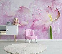 Einfache rosa Lotusblumenwand für Wohnzimmer und