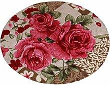 Einfache Rose Blumen Runde Anti-Rutsch-Teppich Computer Stuhl Kissen (Dicke1CM) ( Farbe : C , größe : 100CM )