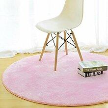 Einfache runde Teppich Teestube Schlafzimmer Wohnzimmer Bettdecke Korb Decke Hause Einfarbig Computer Stuhl Matten , 2 , 60*60cm