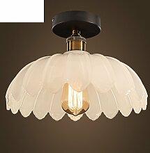 Einfache rustikale Lampe Lotus Lampe Restaurant und die Glaslampe-A