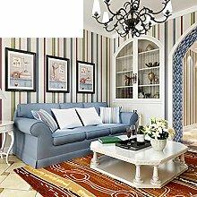 Einfache Schlafzimmer vertikale Streifen Vlies-Tapete gestreifte Tapete Hintergrund der modernen Wohnzimmer-A