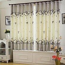 Einfache Schlafzimmer Wohnzimmer Fenster Schatten/ drapiert pastorale Blackout-A 200x200cm(79x79inch)