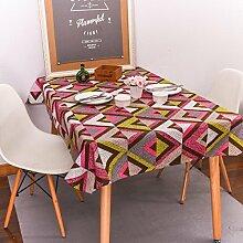 einfache stil tischdecke Baumwolle dicker Festliche lieferungen Hotel Couchtisch Geschirr staub tuch , B , 140*200cm