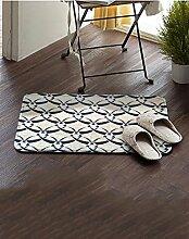 Einfache Stoff Umweltschutz Teppich Wasseraufnahme Wear Badezimmer Hall Küche Schlafzimmer Wohnzimmer Eingang Teppich ( Farbe : F , größe : 60*90cm )