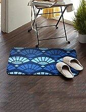Einfache Stoff Umweltschutz Teppich Wasseraufnahme Wear Badezimmer Hall Küche Schlafzimmer Wohnzimmer Eingang Teppich ( Farbe : E , größe : 60*90cm )